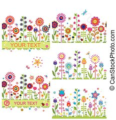 Funny floral borders