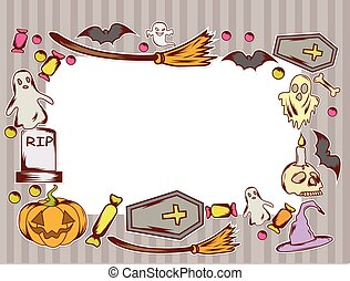 Funny Frame Halloween Design