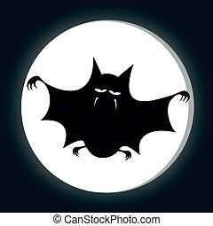Funny freaky bat - a big black fat bat is smiling at you ...
