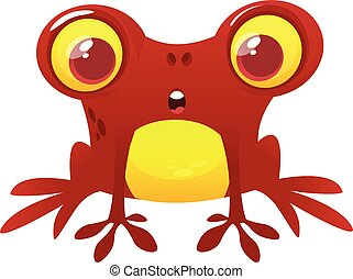 Funny Frog Cartoon Character. Vector illustration