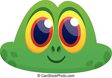 Funny Frog Cartoon head
