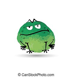 Funny frog. Watercolor sketch for your design