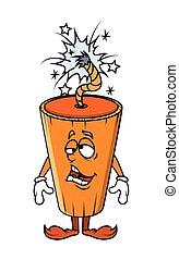Funny Frustrated Cartoon Bomb