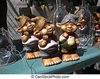 Funny garden gnome dwarf