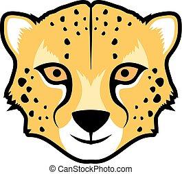 funny gepard face - Creative design of funny gepard face