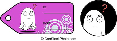 funny ghost cartoon expression giftcard 5 - funny ghost...