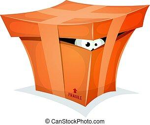 Funny Gift In Cardboard Box
