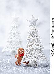 Funny gingerbread man card