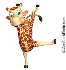 funny  Giraffe cartoon character