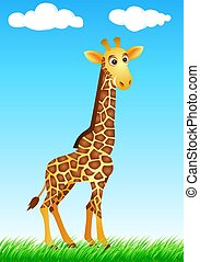 Funny giraffe cartoon