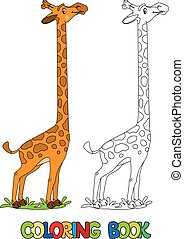 Funny Giraffe. Coloring book
