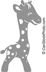 Funny giraffe. Drawing for logo design