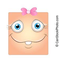 Funny Girl Face Smiley