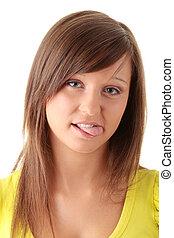 Funny girl portrait