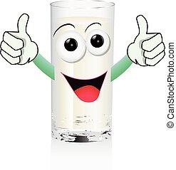 funny glass of milk