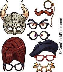 Funny glasses - Funny cartoon glasses. Vector clip art...