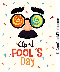 funny glasses to fools day celebration