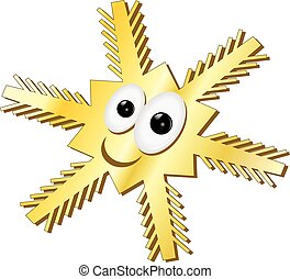 funny gold snowflake