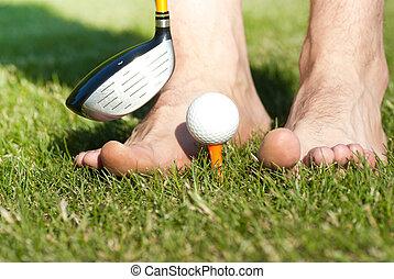 funny golf play