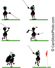 Funny Golf Player