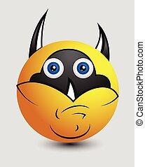 Funny Goofy Super Hero Smiley