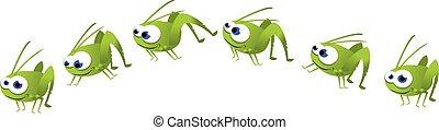 Funny Grasshopper Jumping