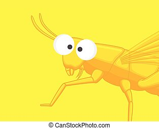 Funny Grasshopper Vector Illustration
