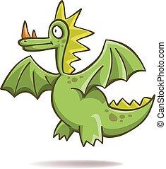 Funny green dragon