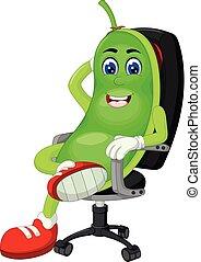 Funny Green Peas Cartoon