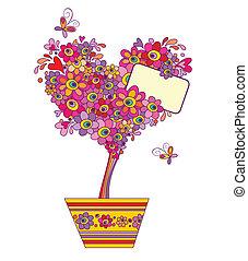 Funny greeting tree