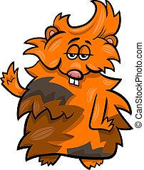 funny guinea pig cartoon illustration
