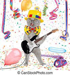 funny guitar cat