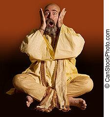 Funny Guru - Funny guru sitting lotus style.