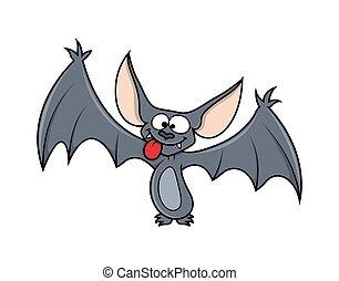 Funny Halloween Bat Character