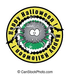 Funny Halloween Spider Vector