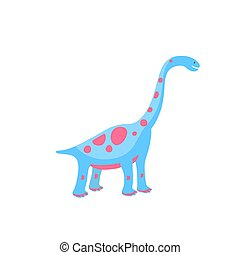 Funny hand drawn dinosaurs. Cartoons dino isolated on white background