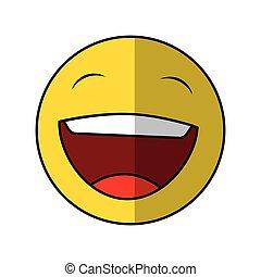 funny happy emoticon icon