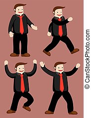 Funny Happy Guy Cartoon Vector Character Illustration