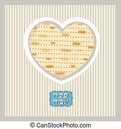 Funny Happy Jewish Passover greeting card. Vector illustration