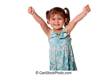 Funny happy little toddler girl