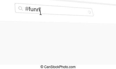 Funny hashtag search through social media posts