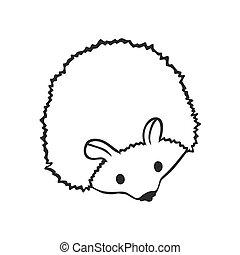 Funny hedgehog, sketch