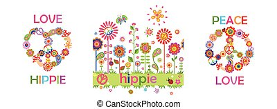Funny hippie childish print