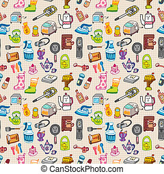 funny home thing seamless pattern