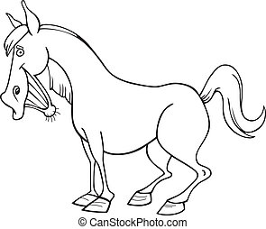 Funny Horse for coloring book