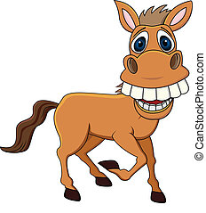 Vector illustration of funny horse