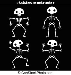 Funny human skeleton. - Funny human skeleton constructor,...