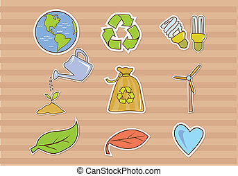 Funny Illustration Eco Green