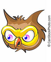 Head of screech owl