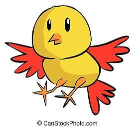 Funny Illustration of Chicken